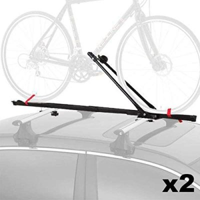 Cyclingdeal 1 Bike Car Roof Carrier Rack Bicycle Racks With Lock