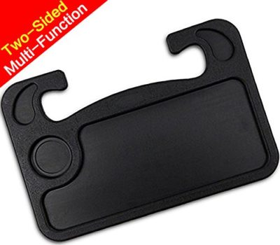 Car Auto Swivel Clip Mount Travel Drink Cup Table Stand Tray Black Stable