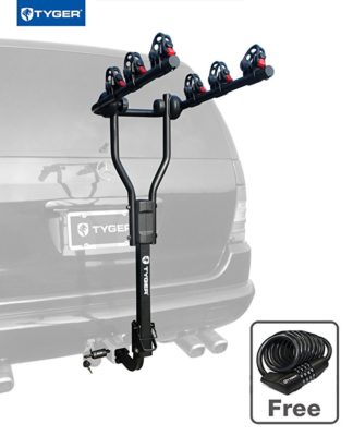Tyger Auto TG-RK3B101S 3-Bike Hitch Mount Bicycle Carrier Rack