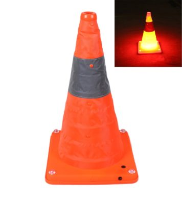 TOP YAO Collapsible Traffic Cone Road Safety Pop Up Light Up
