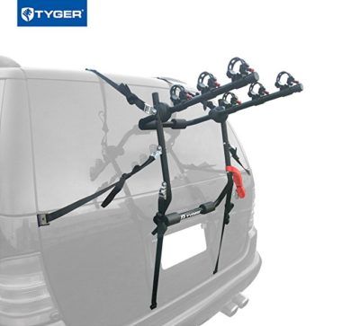 Tyger Auto TG-RK3B203S Deluxe Black 3-Bike Trunk Mount Bicycle Carrier Rack
