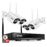 ZOSI 4PCS Megapixel 720P Wireless Outdoor IP Camera System