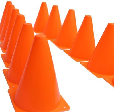 Dazzling Toys 7 Inch Plastic Traffic Cones