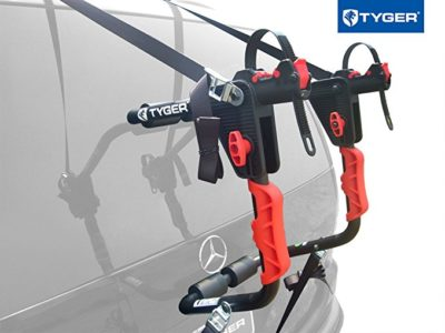 Tyger Auto TG-RK1B204B Deluxe Black 1-Bike Trunk Mount Bicycle Carrier Rack