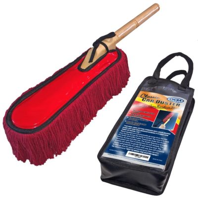 OCM Classic Car Duster with Solid Wood Handle