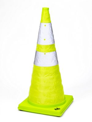 Mutual Industries 17712-1-28 Collapsible Reflective Traffic Cone with Inside Light