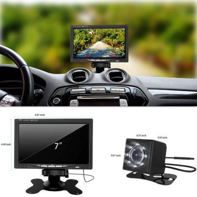 Coolwoo Car Vehicle Backup Camera and Monitor Kit
