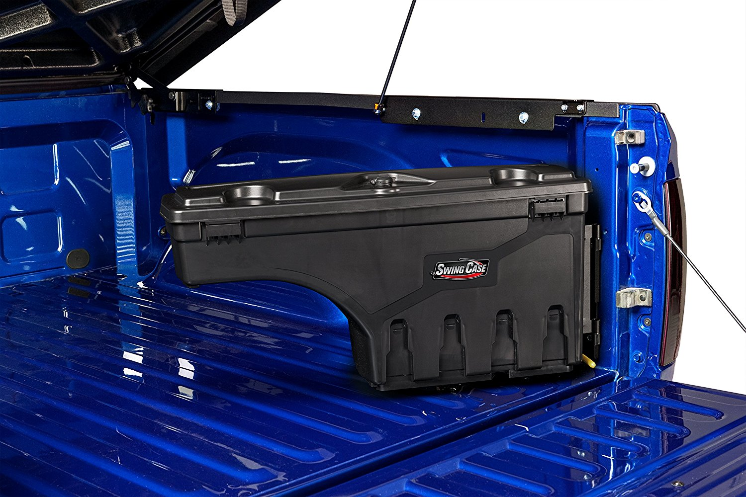 Trunk Box With Wheels Garage Storage Locking ToolBox Pickup Truck Bed Organizer
