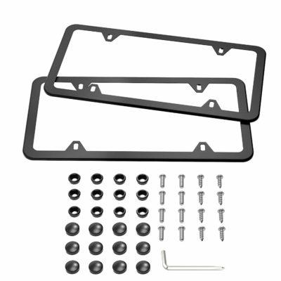 Karoad Black License Plate Frames, 2 PCS