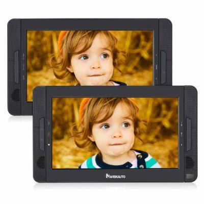 "NAVISKAUTO 10.1"" Dual Screen DVD Player"