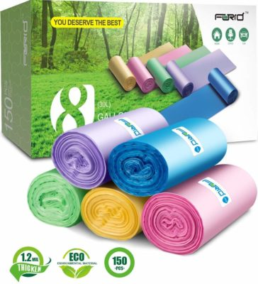 FORID Colorful Clear Garbage Bags