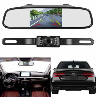 LeeKooLuu Reverse/Rear View Camera and Mirror Monitor Kit