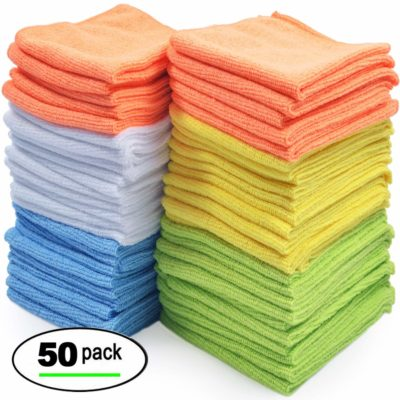 Best IP034 Microfiber Cleaning Cloth, Pack of 50