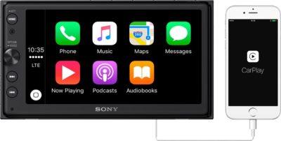"""Sony XAV-AX100 6.4"""" Car Play/Android Auto Media Receiver with Bluetooth"""
