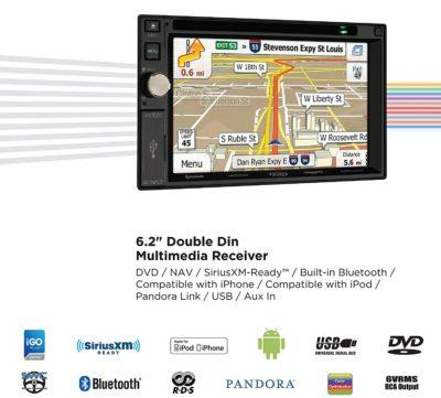 """Jensen VX7020 6.2"""" LCK MultiMedia touch Screen Double Din"""