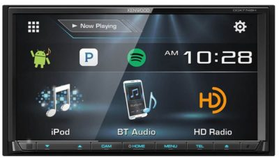 Kenwood DDX774 Din Receiver with Bluetooth and HD Radio