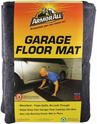 Armor All AASMVC88100 Charcoal Small Vehicle Garage Floor Mat