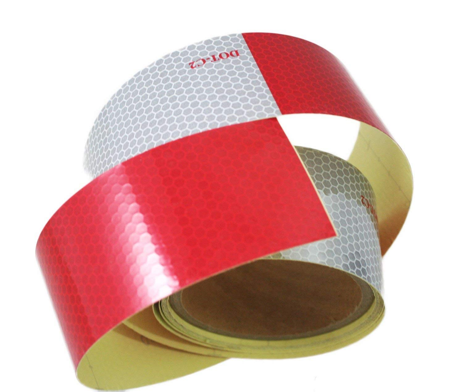 Reflective Tape Red And Silver Stripes 2 In X 30 Ft