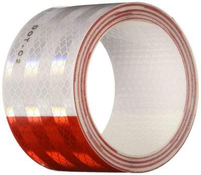 Safe Way Traction Diamond Grade Conspicuity Red and White Trailer DOT-C2 Tape