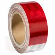 6 White Reflective Safety Tape 2 x 150 for Automobile Car Truck Boat Trailer 6 Red