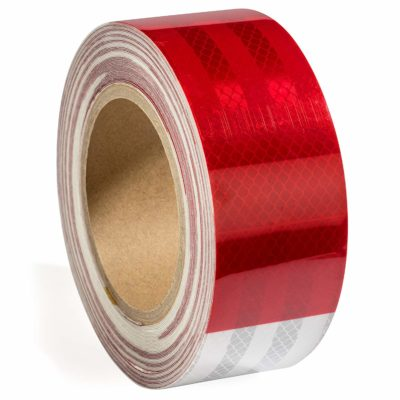 """2"""" X 50 ft. DOT Approved Reflective Safety Tape Red White for Trailers"""