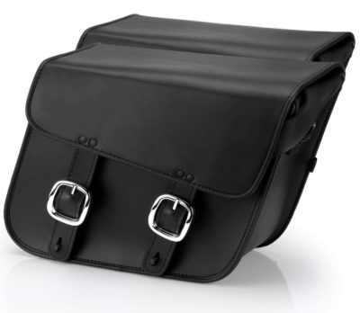 Nomad USA Leather Slanted Large Motorcycle Saddlebags