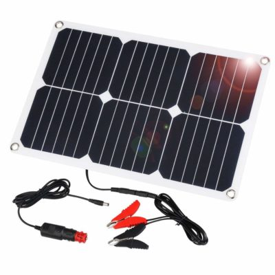 SUAOKI 18V 12V 18W Solar Car Battery Charger Portable SunPower Solar Panel Trickle Charger