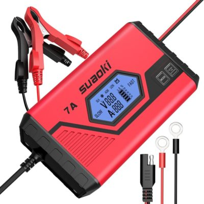 SUAOKI Smart Battery Charger/Portable Battery Maintainer Waterproof