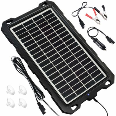 Solar Battery Charger Car, 7.5W 12V Solar Trickle Charger for Car