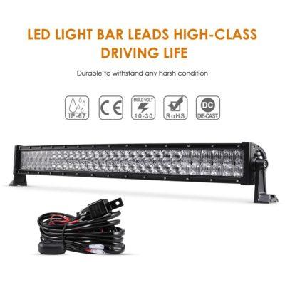 "Auxbeam 32"" 180W Curved LED Light Bar"