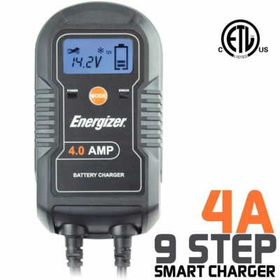 Energizer ENC4A 4 Amp Battery Charger with LCD