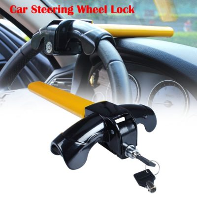 Eforcar Universal Anti-Theft Car Auto Security Rotary Steering Wheel Lock