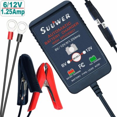 Suuwer Automatic Trickle Battery Charger 6V and 12V