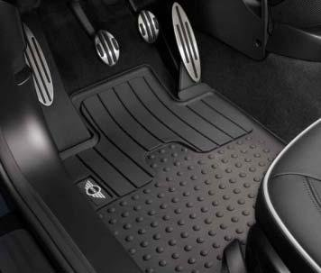 Rear by MINI Cooper MINI Essential Black All Weather Floor Mats