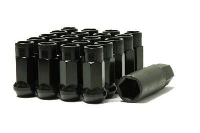 Muteki 32906B SR Series Black SR48 Open End Lug Nut Set
