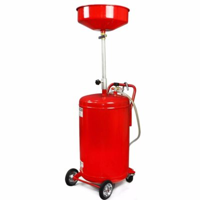 XtremepowerUS 20 Gallon Portable Waste Oil Drain Tank Air Operated Drainage, Red
