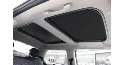 Yu Motor 2Pcs Foldable Sunroof Shade Sunshade Heat Isolate