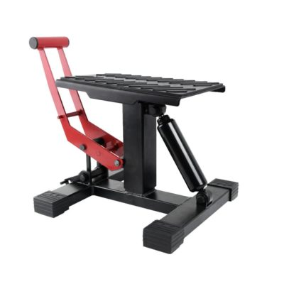 Yitamotor Red/Black Dirt Bike Lift Steel Stand