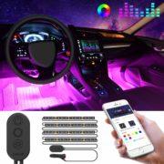 Unifilar Car LED Strip Light, MINGER APP Controller Car Interior Lights