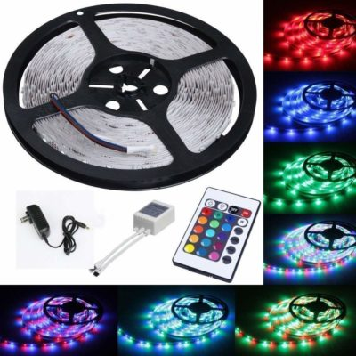 Tasodin Water-Resistance IP65 300 LEDs Multicolor Changing Kit LED Cuttable Light Strips