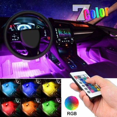 EJ's Supercar 4pcs 36 LED Multi-Color Car Interior Lights