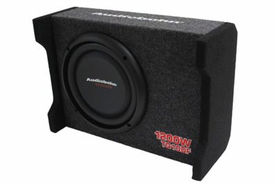 "Audiobahn TQ10DF 10"" Flat Enclosed Subwoofer"