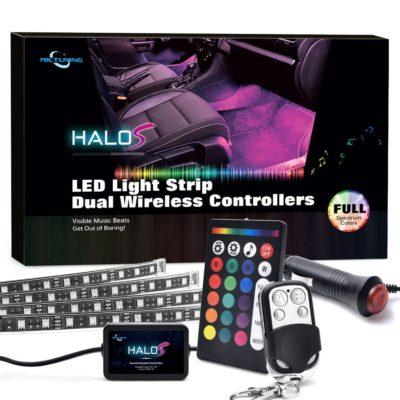 MICTUNING Car LED Strip Lights Multicolor Interior Underdash Lighting Kit
