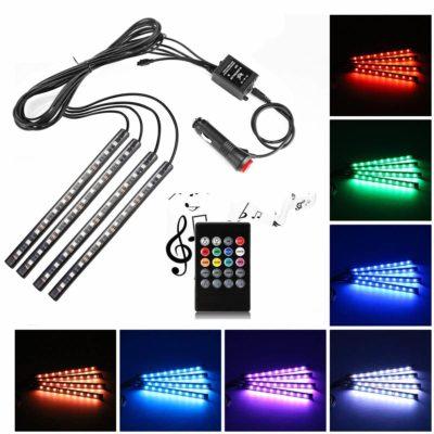 Uniwit Multicolor Car Interior Music Light LED Underdash Lighting Kit