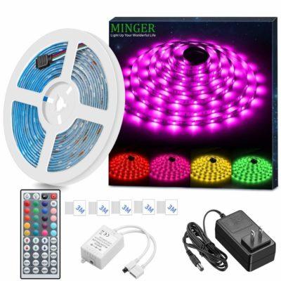 MINGER LED Strip Light SMD 5050 LED Rope Lighting Color Changing