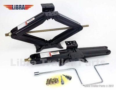 "Libra Set of 2 5000 lb 24"" RV Trailer Stabilizer Leveling Scissor Jacks"