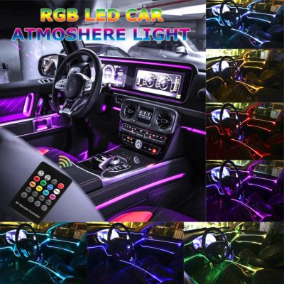 HOLDCY Music RGB Interior Décor Neon Strip Lights with Remote Control
