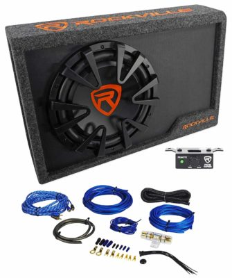 "Rockville RWS12CA Slim 1200 Watt 12"" Powered Car Subwoofer"