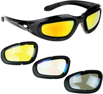 Aully Park Polarized Motorcycle Riding Glasses
