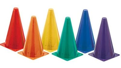 Champion Sports Hi Visibility Fluorescent Plastic Cone Set